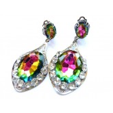 Multicolor Earrings, Color Changing, Statement earrings,