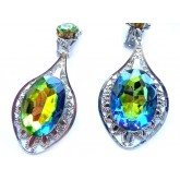 Multicolor Earrings, Peacock Earrings, Color Changing,
