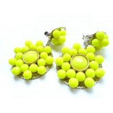 Neon Earrings, Yellow Neon Earrings,