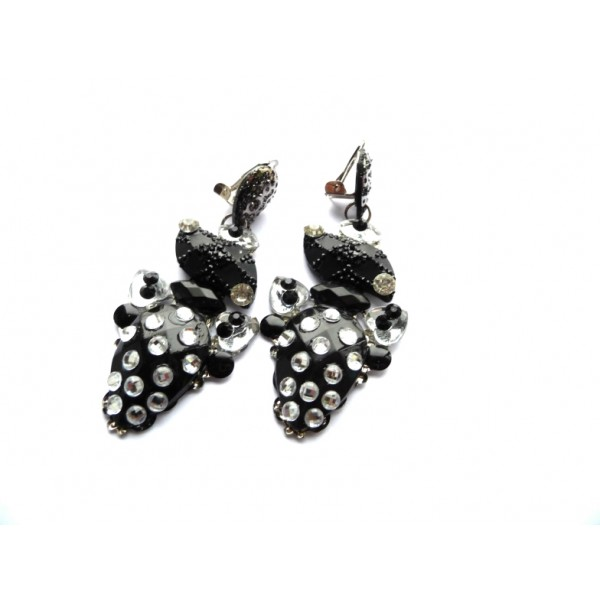 Black Earrings, Unusual Earrings, Unique Earrings, OOK