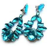 Blue Green Earrings, Teal Earrings,