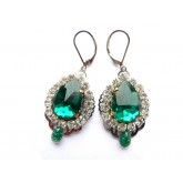 Green Earrings, Emerald Earrings, Small Earrings,
