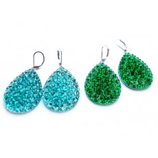 Big Teardrop Earrings, Big Red Earrings, Big Blue Earrings, Big Green Earrings,