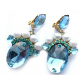 Blue Earrings, Light Blue Earrings,