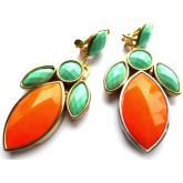 Neon Statement Earrings, Multicolor Statement Earrings