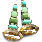 Multicolor Earrings, Long, Statement, Catwalk,