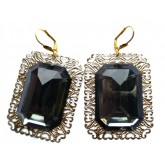 Big Black Earrings, Black Statement Earrings, Black Earrings,