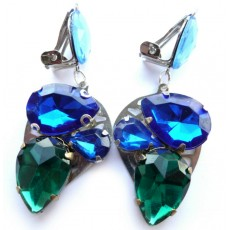 Blue Green Earrings, Green Earrings, Blue Earrings,