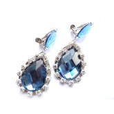 Blue Earrings, Small Earrings, Everyday Earrings,