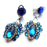 Blue Earrings, Cobalt Blue Earrings, Deep Blue Earrings,