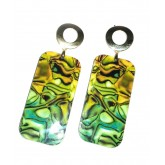 Abalone Earrings Colorful