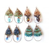 Wire Earrings, Colorful,