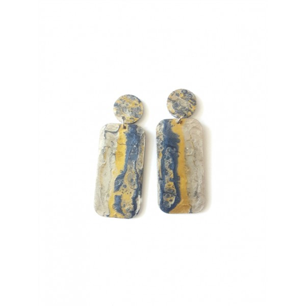 Colorful Earrings, Stone Like