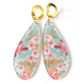 Blossom Earrings, Blue