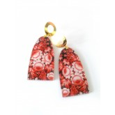Red Earrings, Floral