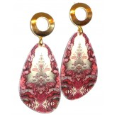 Boho Chic Earrings Red