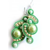Cute Green Earrings, Chic