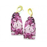 Pink Earrings, Floral