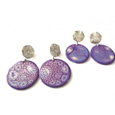 Lavender Earrings, Purple