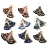 Beaded Earrings, Colorful