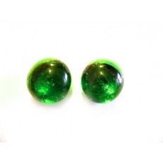 Green Studs, Emerald Green Studs, Glass Studs, Green Post Earrings,