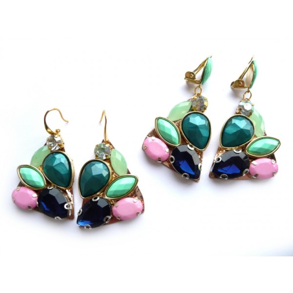 Statement Earrings, Unusual Earings, Multicolor Earrings, Unique Earrings, Designer Earrings, Modernistic Earrings, Dangle Earrings, Drop Earrings,