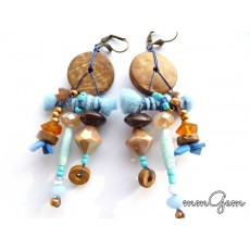 Ethnic Earrings, Primitive Earrings, Rustic Earrings, Tribe Earrings, Unique Earrings,