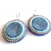 Lagoon, Blue Druzy Earrings, Elegant, Boho Chic,