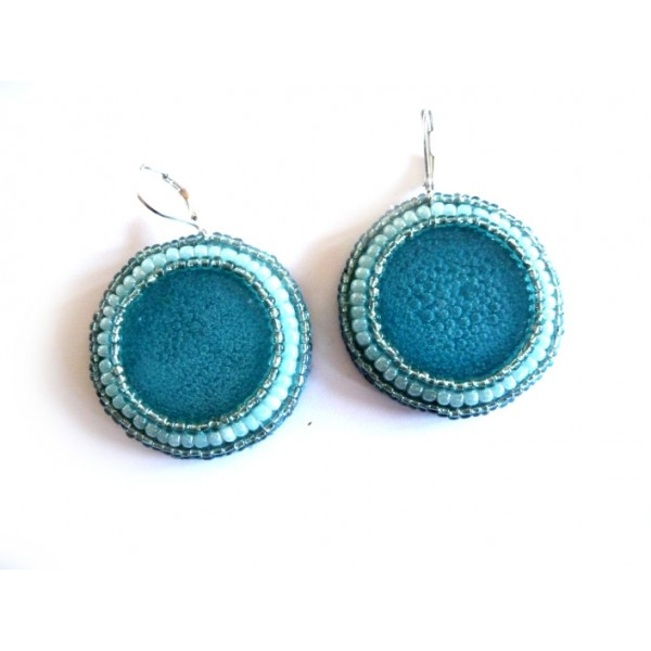 Bubble, Blue Earrings, Blue Round, Elegant, Boho Chic,
