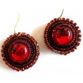 Red Earrings, Round Red Earrings, Very Red Earrings,