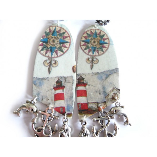 Statement Earrings, Lighthouse, Sweet Life Earrings,