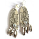 Sweet Life Earrings, Birds Earrings, Feathers,
