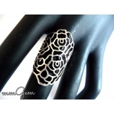 Long Boho Floral Ring
