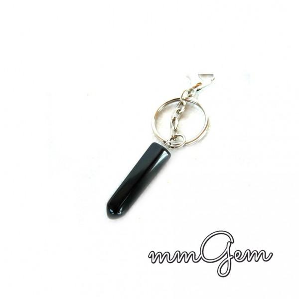 Black Tourmaline Key Chain