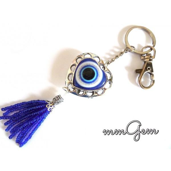 Evil Eye key chain, Tassel Key Chain,