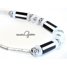 Black and White Men Necklace