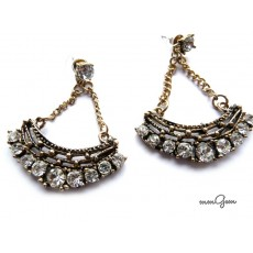 Antique Gold Chain Earrings