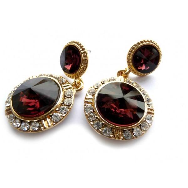 Red Earrings, Wedding Earrings, Red Wedding, Autumn Wedding, Wedding Jewelry, Crystal Earrings, Celebrity Earrings,