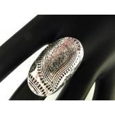 Boho Ring, Knuckle ring, Shield ring, Long Ring, Silver Ring, Black Silver Ring, Shield  Armor Ring, S 9.25,