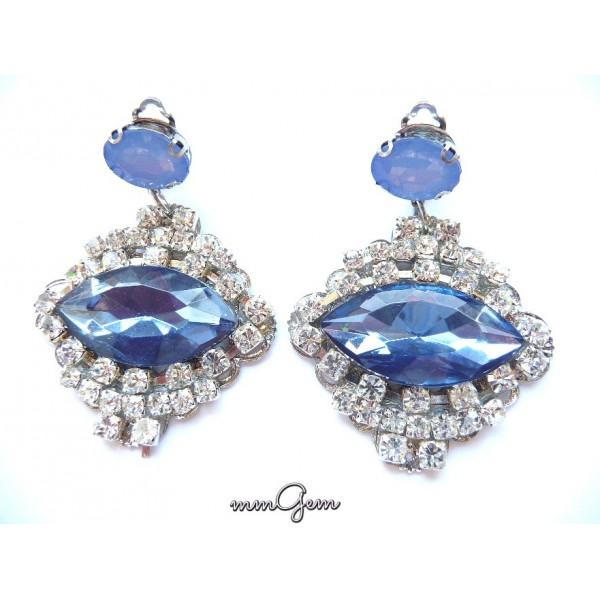 Blue Earrings, Topaz blue Earrings, Blue Topaz Earrings, Multicolor Earrings, Statement Earrings
