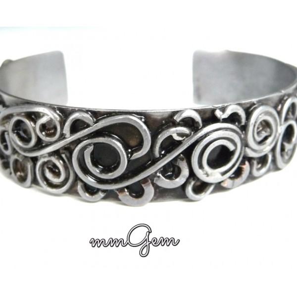 Silver Bangle Bracelet, Open Bangle Bracelet