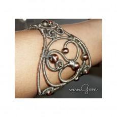Unique Silver Wire Wrapped Bracelet