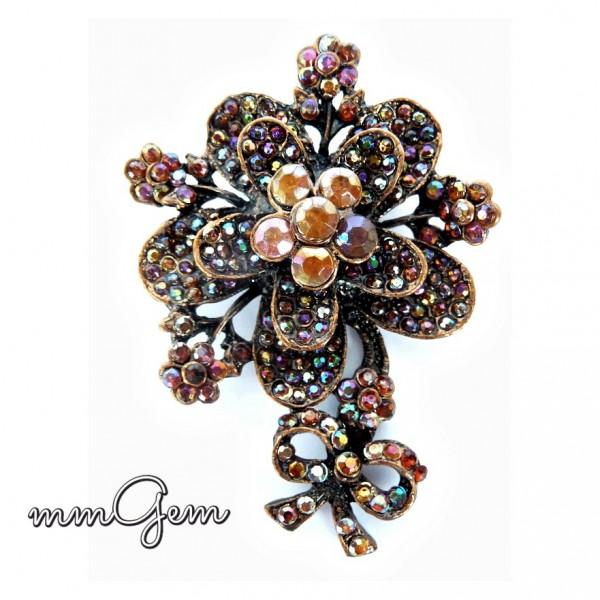 Big Flower Brooch, Vintage Style Brooch