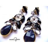 Black Blue Earrings