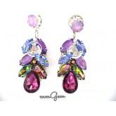 Multicolor Burgundy Earrings,