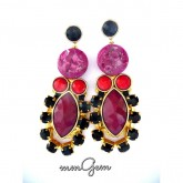 Red Burgundy Earrings