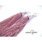 Pink Tassel Earrings
