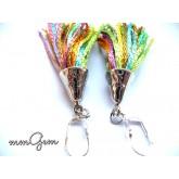 Multicolor Fringe Earrings