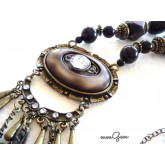 Big Boho Necklace, Brown Necklace