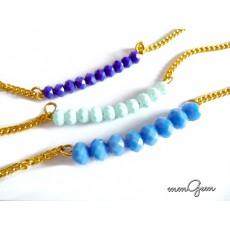 Turquoise Blue Necklace, Deep Blue Necklace